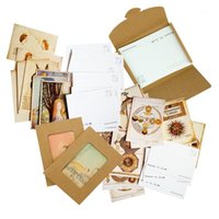 7packs الرجعية بطاقات عيد البطاقات بريدية الحيوانات الناس تحية آخر بطاقة شخصية الزفاف ديكور حزب اللوازم هدية بطاقات 1