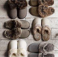 2021 Paar Wolle Hausschuhe Männer und Frauen Home Indoor Winter Große Größe Herrenschuhe Rutschfeste Gummi-Sohlen Baumwolle Schuhe 5 Farben Slipper