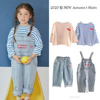 Kids T Shirts 2020 RJ Brand New Autumn Boys Girls Long Sleeve Stripe T Shirts Tops Baby Child Fashion Cotton Tees Clothes 1006
