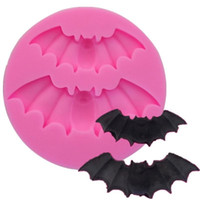 Halloween-Silikon-Bat-Formen Weihnachtsgeisterfest Dekorieren Kuchen Moldes Zucker Kekse Backen einfache Zerlegbarkeit Mold 1 4sqa G2