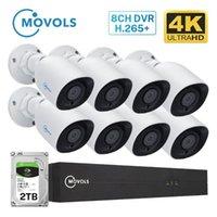 خروج 8CH 4K فائقة HD CCTV نظام الكاميرا H.265 CCTV عدة 8MP DVR في الهواء الطلق المنزل للماء فيديو المراقبة نظام المراقبة 1