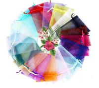 Aniversário dos doces Organza presentes Bolsas Jóias favor de partido Embalagem 7x9cm casamento Decorações Baby Shower