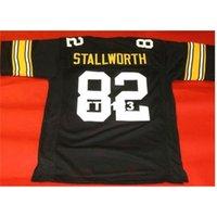 Erkekler Özel # 82 John Stallworth Black Kolej Forması Boyutu S-4XL veya Özel Herhangi bir isim veya numara forma