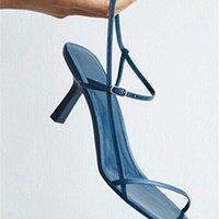 Entrega à Logística dentro de 3 dias Meefezini Verão New Women's High Heel Sandals Sexy Y200323