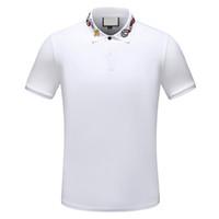 Moda Verão Slim Men's Tees Pólos de Alta Qualidade Roupas Retalhos Pullovers Roupas Casuais Roupas Algodão Tee Designer Polo Camiseta