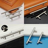 T tipi dolap kolları paslanmaz çelik dolap kapı çekmece dolap ayakkabı mutfak dolapları çeker Mutfak aksesuarları GH300 147 K2