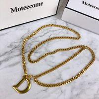 cintas metálicas correia cadeia D carta ouro da cintura 2020 para mulheres borla ketting Riem ceinture femme vestido cós cintos