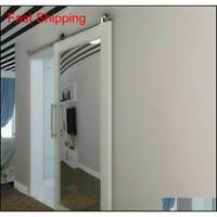 سهلة التركيب مزدوجة بيجرينج انزلاق الحظيرة خشب الباب الأجهزة أعلى جبل الفولاذ المقاوم للصدأ بارن Whee QYLSNR Sports2010