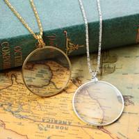5x Lupe-Halskette Dekorative Vergrößerungs-Glas-Linse liest Lupe-Monokel-Anhänger-Schmuck-Lupe 20201