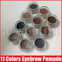 11 couleurs Sourcils crème sourcils Pommade imperméable maquillage exhausteurs Crème pleine taille avec boîte de détail en stock