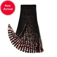 2021 Новый женский бренд дизайн новой весенней моды MIDI линия печатная талия эластичная вышивка Высокая юбка офис дамы Клипс RSWB