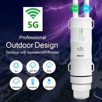 WIFI Extender Outdoor WiFi Repetidor de 5 GHz WiFi Booster Amplificador Largo Rango Amplificador Wi Fi Router Dual Banda Acceso Wi-Fi Punto de acceso al aire libre