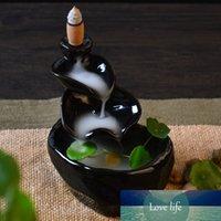 Творческий Lotus пруд Дизайн Backflow Благовония Конусы горелки Благовония держатель Керамические Censer Домашнее украшение Чайхана