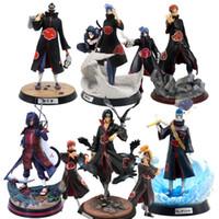 Naruto shippuden anime modelo akatsuki uchiha itachi obito madara sasuke hidan konan dor kakashi ação figura colecionável brinquedo y0112