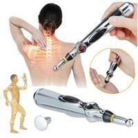 2021 جديد الوخز بالإبر الإلكترونية القلم خطوط الطول الكهربائية العلاج بالليزر علاج تدليك القلم ميريديان طاقة القلم أدوات الألم الإغاثة