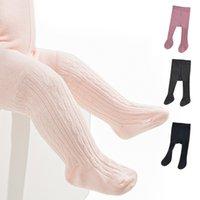 6 couleurs Sock bébé coton nouveau-né garçon Leggings fille hiver chaud Chaussettes Jumpsuit Mode Knee High Sock