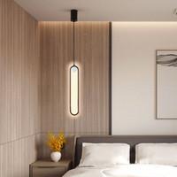 Nordic Простой стиль Современные светодиодные подвесные светильники Спальня Ночные лампы Iron Art, Гостиная фона Гобелен лампы KHYP-142