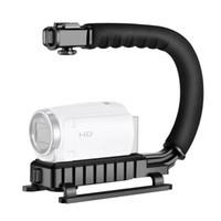 Estabilizadores U-GRIP CAMCORDER STILLIZIZAND HABLE DSLR Handheld Gimbal Forma de video con soporte de zapata para cámara Smartphone