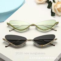 Alta calidad del gato de las señoras Unglasses Rhinestone de la manera de las gafas de sol de las mujeres atractivo retro diamante Gafas de sol Gafas NX
