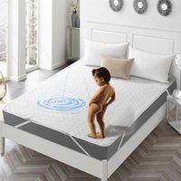 Posto di spugna del copriletto Scheda del letto impermeabile per materasso Topper con protettore a band Baby Isolation1