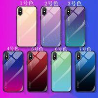 الزجاج المقسى الهاتف القضية للحصول على 12 11 XS MAX XR X 8 7 6 6S زائد حالات متدرجة اللون لينة TPU الغطاء الخلفي للحصول على اي DHL