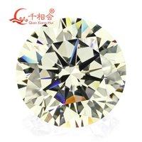 Diğer 5mm-12mm IJ Sarımsı Beyaz Renk Yuvarlak Şekil Yıldız Kesim Ubic Zirkonya Gevşek CZ Stone