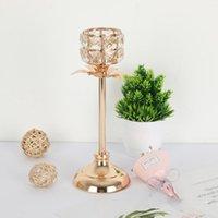 Bougies Porte-bougie Imuwen Crystal Taille Délicate Stand Table Chandelier pour cadeau Accueil Décoration