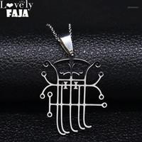Pendentif Colliers Satan Symbole du démon Collier de chaîne en acier inoxydable Femmes / Hommes Silver Couleur Couleur Bijoux Acero inoxidable Joyeria N30551