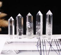 Weißer Kristall Obelisk Tower, Kristallheilung, Reik, Gitter Natürliche Quarz Figurine Kugel Edelstein Selbststehendes 6 Facetten Einzelteil