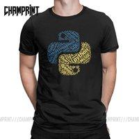 T-shirt Python Programmer pour hommes Coton T shirts Software Software Developer Coder Coder Codage TEES Vêtements graphiques X1214