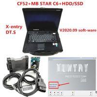 CF52 Toughbook diagnóstico PC 4G CPU ram i5 com MB Estrela multiplexer C6 MB estrelar C6 VCI Diagnóstico com o mais novo V2020.09 macio-ware
