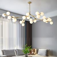 آخر الحديثة أدى الثريا الانشطار فروع نمط كرات الزجاج مصباح السقف غرفة المعيشة غرفة الطعام غرفة نوم إضاءة تركيبات