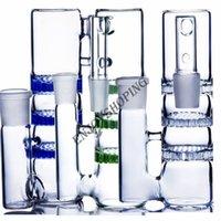 Colorido 90 Grado fumadores Collector Bong accesorios de vidrio 3 Fliter percolador 14 mm 18 mm juntas bongs reciclador colector de cenizas