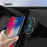 Cep Telefonu Bağları Tutucular Remax 10 W Kablosuz Araç Şarj Tutucu Qi Hava Firar Monte Mobil Stand1 için1