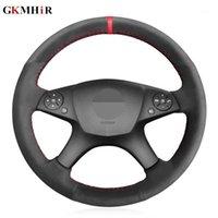 Cubierta del volante del automóvil del marcador rojo de ante negro para C280 C230 C180 C260 C200 C300 W204 C-Class 2007-20101