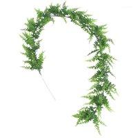 190 cm Yapay Çiçek Asma Simülasyon Yeşil Bitki Düğün Dekorasyon Yaprak Dize Tavan Sarma Yol Düzeni Rattan1