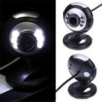Webcams hobbylane usb video webcam câmera de computador seis luzes visão noturna com microfone para laptop11