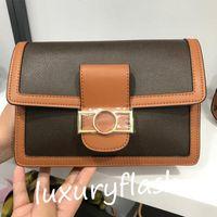20 25 см французские роскоши дизайнеры женские натуральные кожаные цепные цепь Crossbody сумка европа мода мессенджер сумки на плечо леди классические коричневые