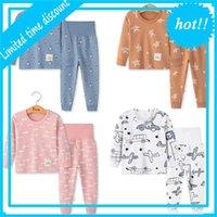 Pajamas 2PC Long Mouwen Мультфильм Детская ночь Одежда для девочки Спать Костюма Herfst Katoen Ребенок Pajamas Boys'nay
