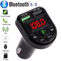 블루투스 5.0 FM 송신기 자동차 MP3 플레이어 듀얼 USB의 2.1A 빠른 충전기 자동차 음악 플레이어 FM 변조기 오디오 주파수 라디오