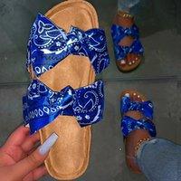 여름 샌들 여성 2020 신발 여성 코르크 샌들 플랫 숙녀 패션 비치 신발 브랜드 Sandles 여성 Sandalias Mujer 신발