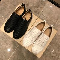 Üst Erkek Kadın Rahat Ayakkabılar Tasarımcı Kırmızı Alt Çivili Spike Moda Insider Sneakers Siyah Kırmızı Beyaz Deri Düşük Üst Ayakkabı