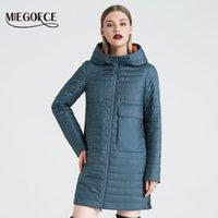 MIEGOFCE весной и капюшоном куртки женщин модной ветрозащитный пальто осени женщин с большими карманами Long Cotton Parka 201014