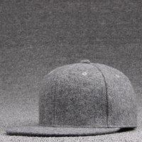 Adulto Top Calidad Lana Fieltro Snapback Caps Invierno Hip Hop Bboy Flat Picked Cap Sólido Sombrero Sombrero Hombres Woolen Baseball Hats 201026