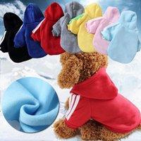Собака свитер осень и зимний щенок пальто многоцветные домашние животные одежды для одежды с капюшоном с капюшоном