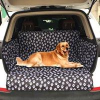 SUV جذع مقعد غطاء مطبوعة أسود للماء أكسفورد القماش pet وسادة الكلب سيارة حصيرة منصات 201130
