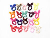 100 adet / grup Çocuk Kadın Saç Bandı Sevimli Polka Dot Yay Tavşan Kulakları Kafa Kız Yüzük Scrunchy Çocuk At Kuyruğu Tutucu Saç Aksesuarları