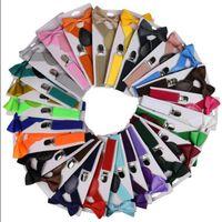 Los niños de la correa de Bowtie Set Soild color tirantes para niños con pajarita ajustable Clip muchachos de las niñas En Y corsés para la espalda boda Accesorios DW5916