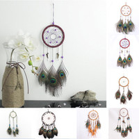 9Styles Peacock Feather Dreamcatcher Wind Chimes Handmade Dr...