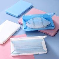 Máscara protectora da pasta armazenamento caso Boca Máscara Clipe Storager sólido à prova de poeira plástico cor à prova de umidade Folding protecção Organizador VT1918